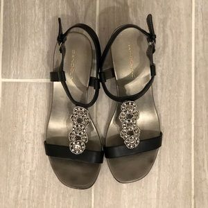 Bandolino Black Jeweled Sandals